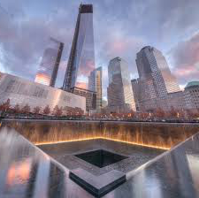 A picture of the beautiful 9/11 memorial in New York.  America needs to do more to honor the events of 9/11.
